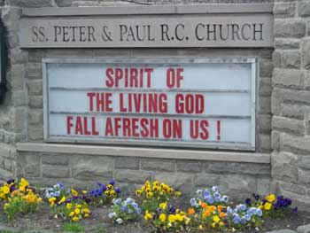 Saints Peter & Paul Church in Williamsville Sign